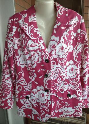 Красивый яркий цветной пиджак на весну размера плюс сайз евро 46 укр 54 bonprix
