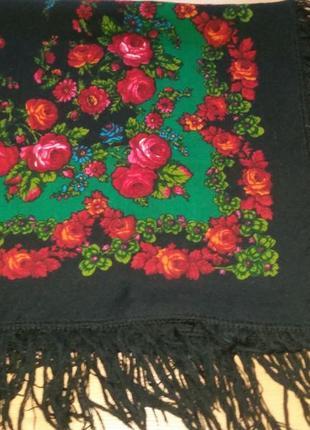 Роскошный платок , народный стиль, 93х92