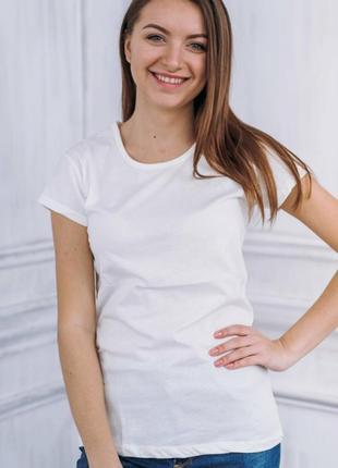 Біла базова футболка однотонна