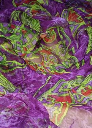 Нежный, невесомый шифоновый платок , 83х83