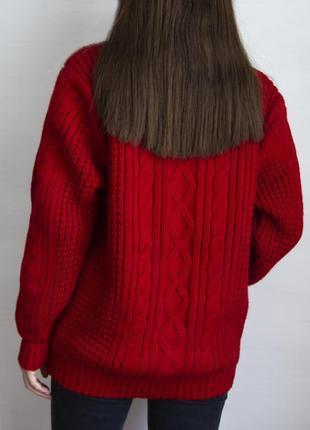Кардиган алого цвета в винтажном стиле avant garde #розвантажуюсь9 фото