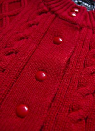 Кардиган алого цвета в винтажном стиле avant garde #розвантажуюсь4 фото