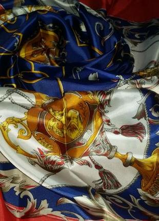 Роскошный шелковый платок, 85х85