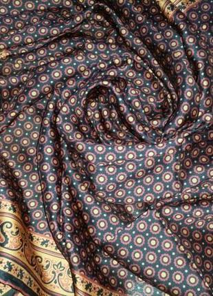 Роскошный шелковый платок, 84х85