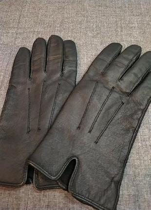 Кожаные перчатки.с.