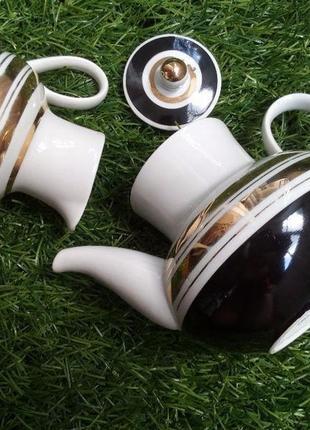 Чайный севиз (чайник заварной и сливочник) ссср фарфор вербилки редкий