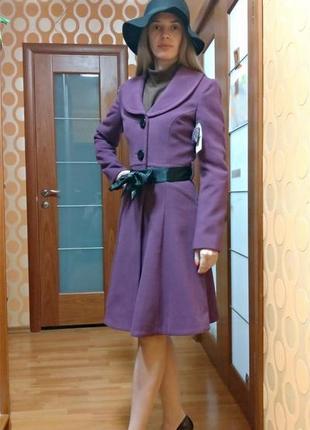 Пальто фиолетовое фуксия  новое суперцена