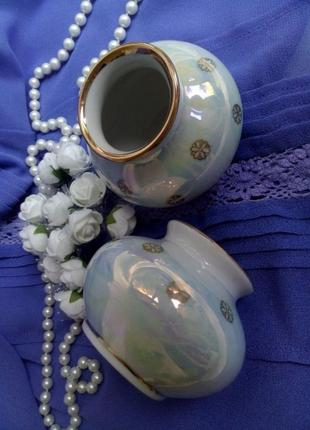 Ваза-миниатюра ссср тернопольского завода 70-х вазочка фарфоровая в  люстре