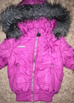 Демисезонная куртка для девочки 1,5-2 года