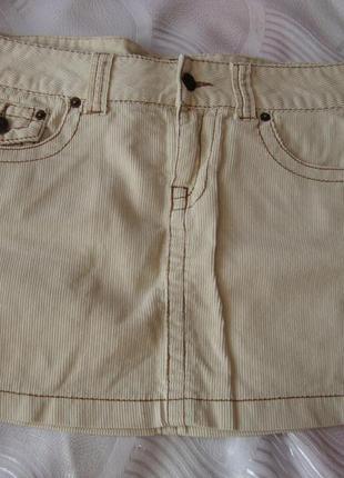 Вельветовая юбка denim