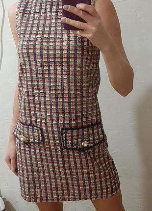 Стильное платье-мини zara basic