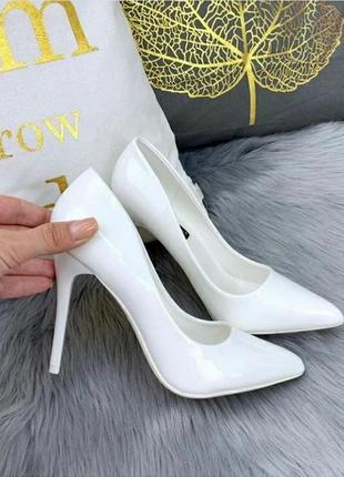 Туфли лодочки белые.  свадебные туфли