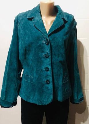 Пиджак ws leather жакет натуральная замша eur-44 р.50/52