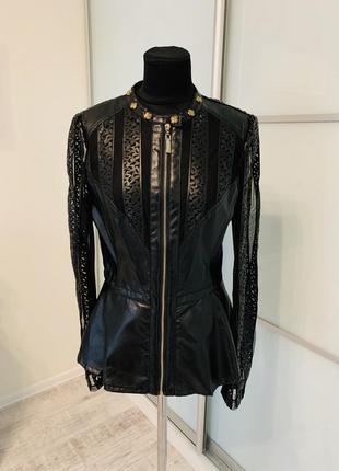 Черная эксклюзивная куртка с баской🔝