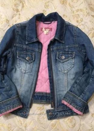 Джинсовая утепленная куртка 42р