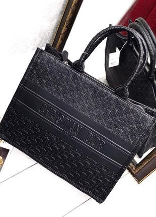 Сумка женская шоппер черный цвет3 фото