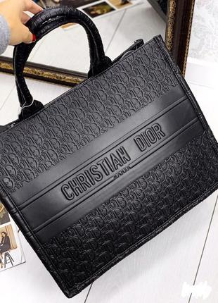 Сумка женская шоппер черный цвет2 фото