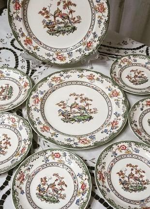 Замечательный винтажный  десертный набор от spode, англия.