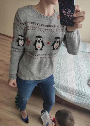 Хорошенький свитер с пингвинами