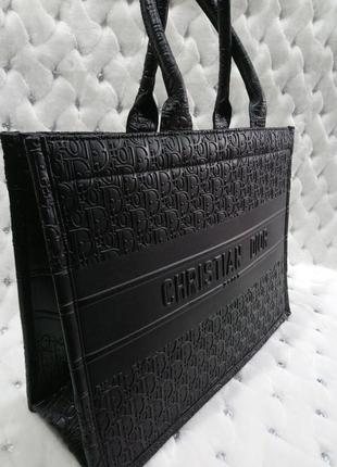 Сумка женская шоппер черный цвет4 фото