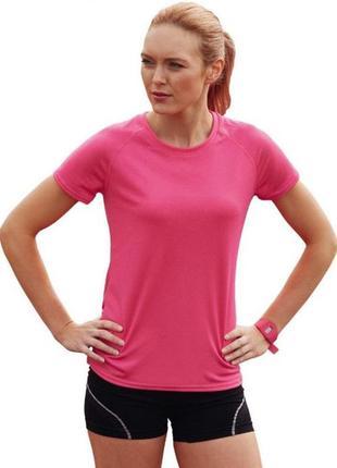 Яркая, розовая, спортивная футболка/crivit/ германия|женская спортивная футболка