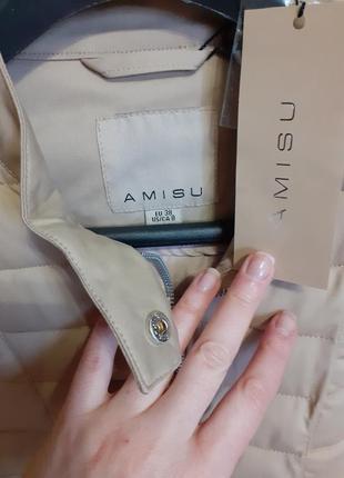 Демісезонна курточка аmisu 38р наш 46