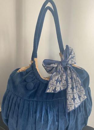 Темно - синяя сумка от pieces accessories