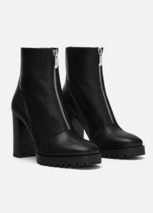 Крутые кожаные ботинки zara