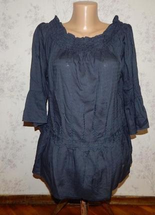 Marks&spencer блузка модал стильная модная р14 indigo collection