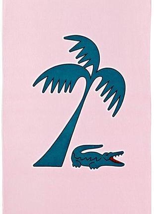 Пляжное полотенце lacoste murphy beach towel pink, оригинал.