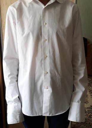 Рубашка next. р48-50. белая.