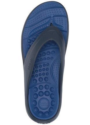 Вьетнамки женские мужские унисекс crocs reviva flip navy/blue jean