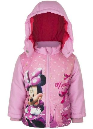 Брендовая демисезонная куртка с минни маус на девочек, disney
