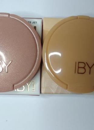 Набор хайлайтеров от iby beauty оттенки розовое золото и золотисто-персиковый6 фото
