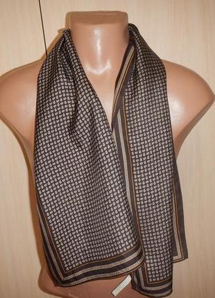 Легкий шелковый шарф р.118см х 29,5см