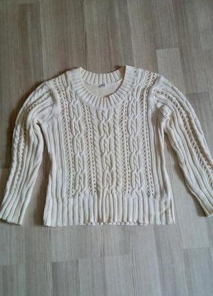 Классный свитер с косами