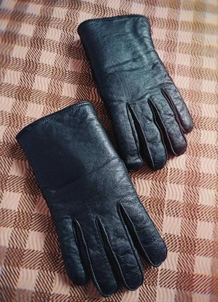 Новые мужские перчатки натуральная кожа черные