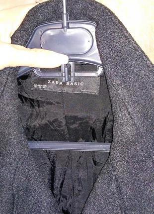Теплое двубортное пальто zara, размер xs, оригинал, 70% шерсть