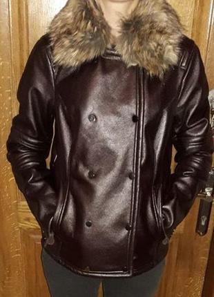 Куртка пилот, дубленк, косуха zara