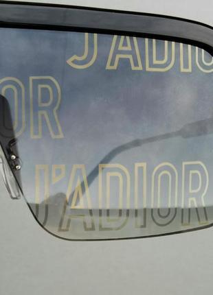 J'adior очки маска женские солнцезащитные с серыми линзами с логотипом бренда5 фото