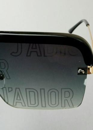 J'adior очки маска женские солнцезащитные с серыми линзами с логотипом бренда6 фото