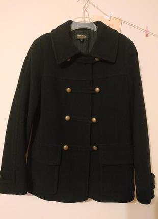 Шерстяное пальто в стиле милитари eddie bauer