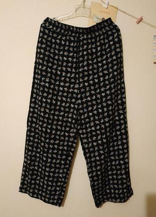 Кюлоты летние штаны в цветы высокая талия #розвантажуюсь