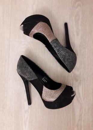 Туфли на каблуке  centro 36 -37 размер 23,5 см