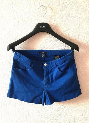 Короткие синие шорты h&m