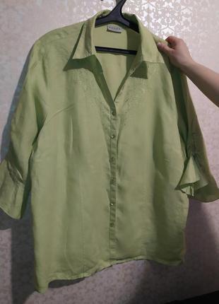 #розвантажуюсь. блузка нарядная с вышивкой льняная.