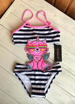 Детский купальник монокини с котом