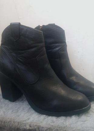 Классические сапоги ботинки ботильоны h&m кожа