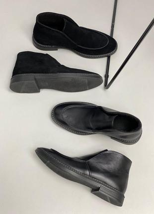 Lux обувь! натуральные кожаные мужские туфли демисезонные ботинки