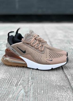 Nike air max 270 шикарные женские кроссовки найк коричневый цвет (весна-лето-осень)😍